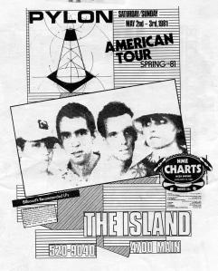 Pylon at The Island in Houston, TX, 1981