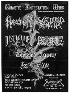 Scattered Remains, Disfigured, Blessed Agony, Assimilation, and more at Mary Janes, 2005