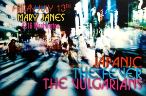 Japanic, The Fever, and The Vulgarians at Mary Janes